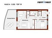 """""""Kaisergarten"""" Haus A, Dachgeschoss, Top 18"""